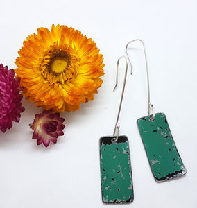 Single Tier Pitted Turquoise Earrings