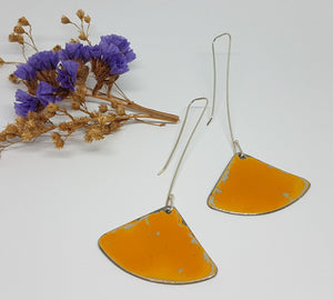Fan Dangle orange Renault 16 Earrings