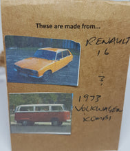 Load image into Gallery viewer, Two Tier Orange Renault 16 + White Kombi