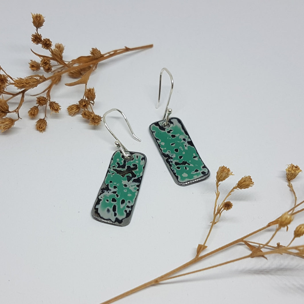 Single Tier Pitted Turquoise Holden EK Earrings