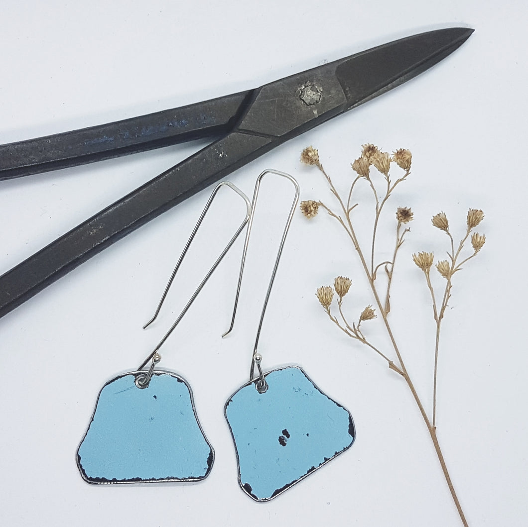 Single Tier Blue Holden HK drop Earrings