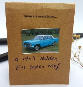 Single Tier White Patina Holden EH roof Earrings