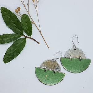 Two Tier hammered Sterling Silver + Super Mint