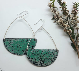 Seme Hoop drop hook Pitted Turquoise Holden EK Earrings