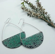 Load image into Gallery viewer, Seme Hoop drop hook Pitted Turquoise Holden EK Earrings