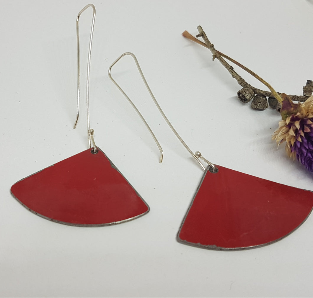 Fan Dangle Red Toyota Landcruiser Drop Earrings