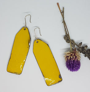 Single Tier Yellow Holden Ambulance Tag Earrings