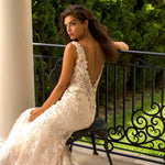 Custom Made V-neck Backless Tank Shoulder Beading Appliques Mermaid Wedding Dress Elegant  Vestiti Da Sposa - LiveTrendsX