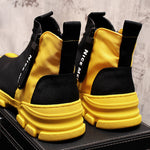 Mens  Luxury British High Top Casual Shoes Fashion Slip On Elastic Flock Vogue Short Ankle Sock Style Hip hops man - LiveTrendsX