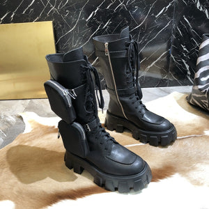 Women's Shoes 19 Autumn and Winter  Martin Boots Fashion  Round Head short boots angle boots chelsea boots  patent leather - LiveTrendsX