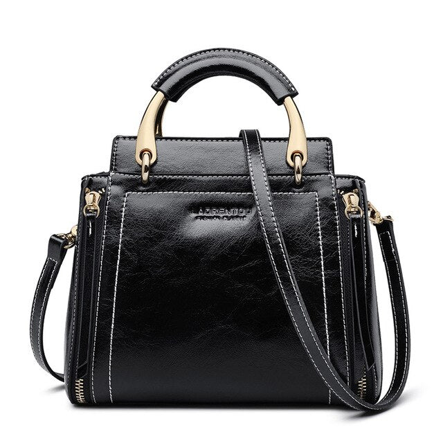 Women Stylish Bags Split Leather New Design Female High Quality Crossbody Bags Sold Retro Totes for Girls - LiveTrendsX