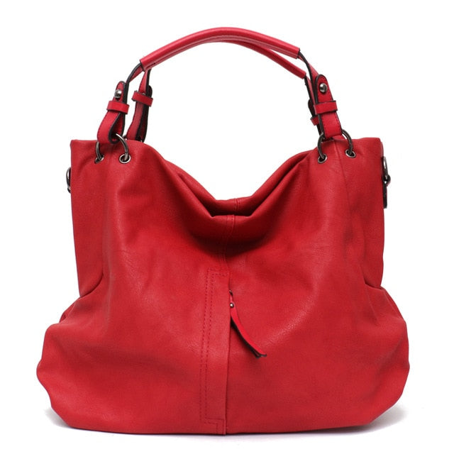 Big Casual Soft Tote Shoulder Bags for Women Large Vegan Leather Zipper Female Hobo High Quality Luxury Design Purses&Handbag - LiveTrendsX