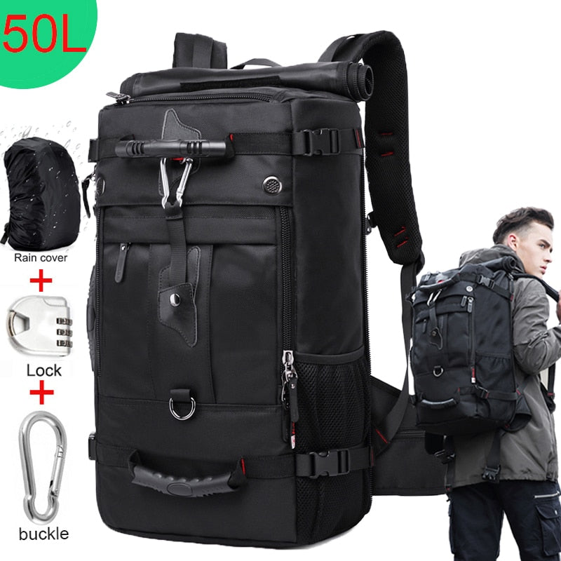 50L Waterproof Travel Backpack Men Women Multifunction 17.3 Laptop Backpacks Male outdoor Luggage Bag mochilas Best quality - LiveTrendsX