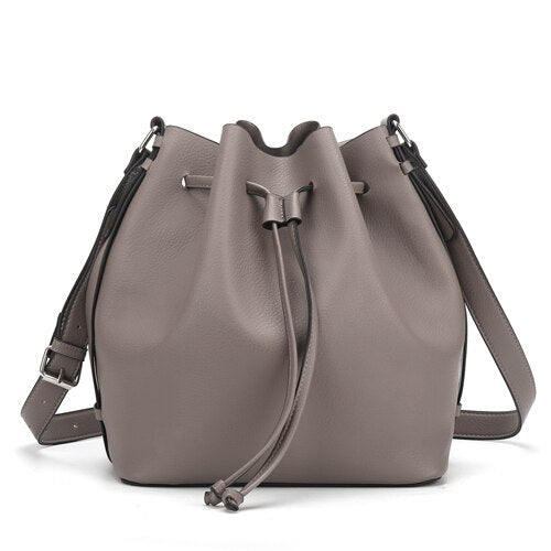Drawstring Bucket Bag for Women Large Brown Crossbody Purse and Shoulder Bag Suede Tote Handbags High Quality - LiveTrendsX