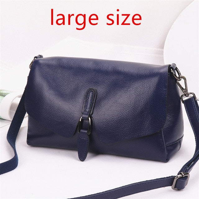 Pure leather handbag 2019 new leather shoulder Messenger bag female fashion wild texture first layer leather portable bag - LiveTrendsX