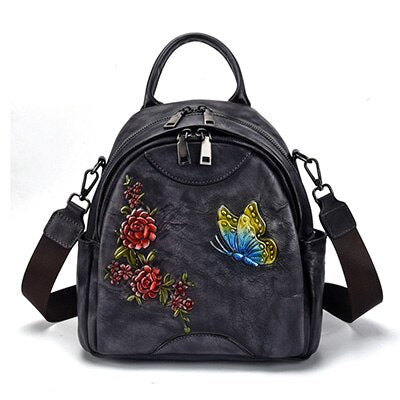3 D Printing Vintage Women School Backpack Bags Royal Butterfly Middle Women Shoulder Bags Ladies Travel Bags - LiveTrendsX