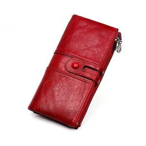Women Purses Long Zipper Genuine Leather Ladies Clutch Bags With Cellphone Holder High Quality Card Holder Wallet New - LiveTrendsX