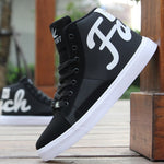 Men's Spring Autumn Shoes Skateboarding Shoes High Top Men British Style Comfortable Sneaker Men's Skateboarding Sneakers Sports - LiveTrendsX