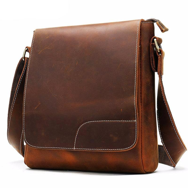 men's bags leather men's shoulder bags sets for men leather vintage male messenger crossbody bag business handbag - LiveTrendsX