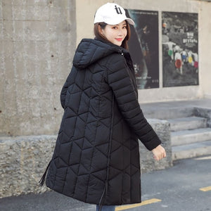 Winter jacket women 2019 Quality casual Thick long Hooded Coat women black women Parka casaco Female jaqueta feminina - LiveTrendsX