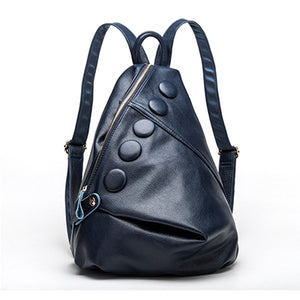 Female Genuine Leather Backpack Classic female anti-theft backpack Daily Rucksack Travel School Bags for Teenager Mochila Femini - LiveTrendsX