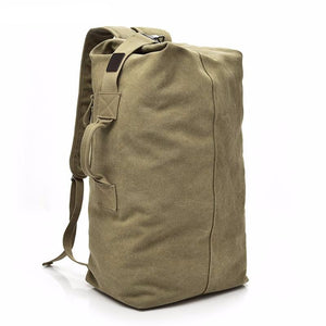 Man Travel Backpack Large Capacity Mountaineering Hand Bag High Quality Canvas Bucket Shoulder Bags Men Backpacks - LiveTrendsX