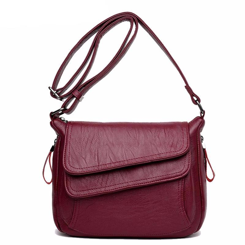 Winter Style Soft Leather Luxury Handbags Women Bags Designer Woman Messenger Shoulder Crossbody Bags For Women 2019 Sac A Main - LiveTrendsX