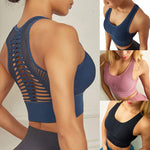 Women Sports Bra Sexy Mesh Brathable Sports Top Push Up Female Gym Fitness Sports Underwear Female Seamless Running Yoga Bra - LiveTrendsX