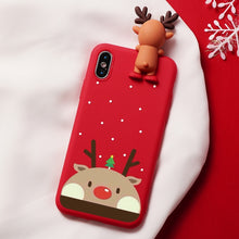 Load image into Gallery viewer, Christmas Cartoon Deer Case For iPhone XR 11 Pro XS Max X 5 5S Silicone Matte Cover For iphone 7 8 6 S 6S Plus 7Plus Case Bear - LiveTrendsX