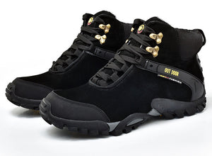 Winter Hiking Shoes Men Mountain Climbing Sneakers Outdoor Waterproof Boots Man Sport Shoes Snow Warm Cotton Shoes Ankle Boots - LiveTrendsX