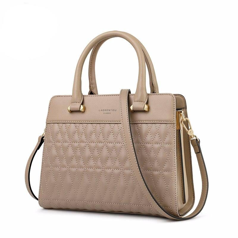 Office Lady Commuter Style Handbag Female Business bag Gentlewoman Leather Messenger Bag Stylish Fall Winter Bag - LiveTrendsX