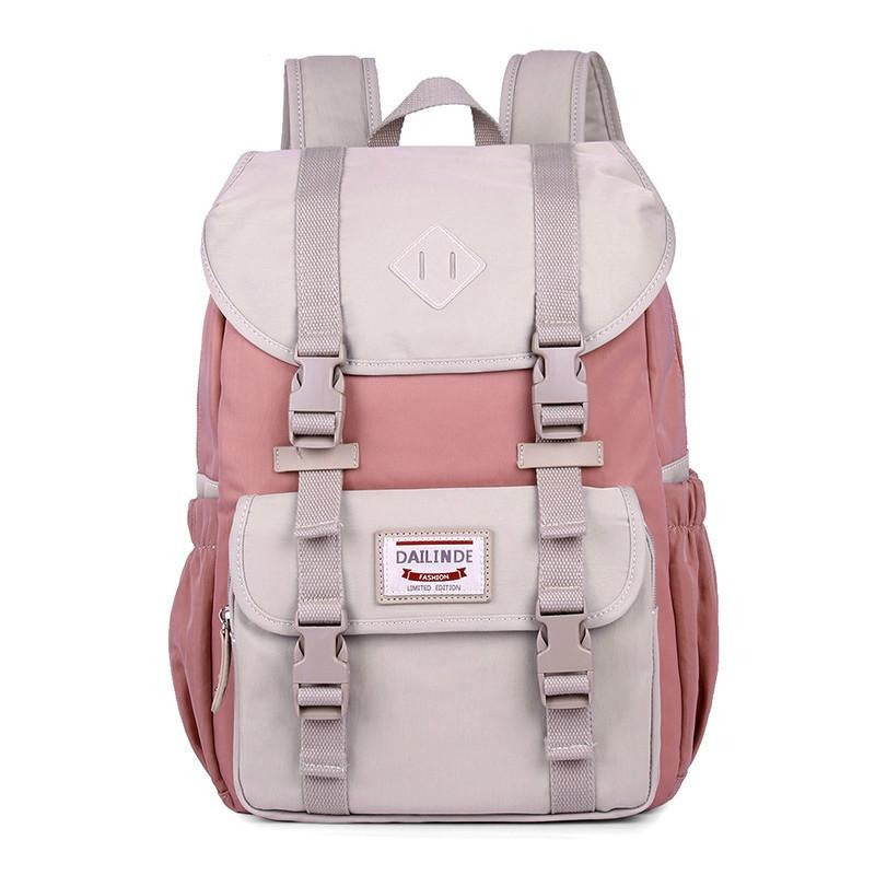 High Quality Canvas Laptop Backpack Women Pink Backpack Schoolbag For Teenager Girls Travel Bagpack Mochila Feminina Sac A Dos - LiveTrendsX
