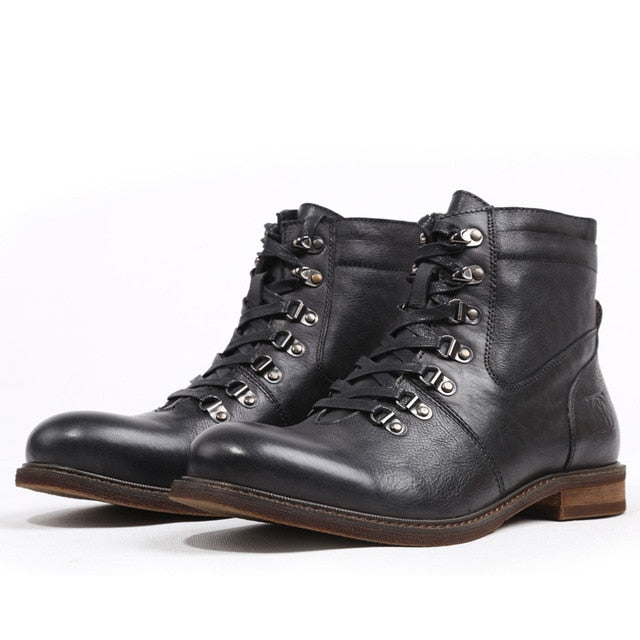 Fashion New Vintage Charm Mens Boots Genuine Leather Handmade  Boot - LiveTrendsX