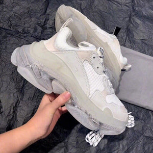 Sneakers Women PVC Flats Round Toe Shoes Women Brand Ladies Shoes Sport Dad Shoes Casual Zapatos De Mujer New Sapato Feminino - LiveTrendsX