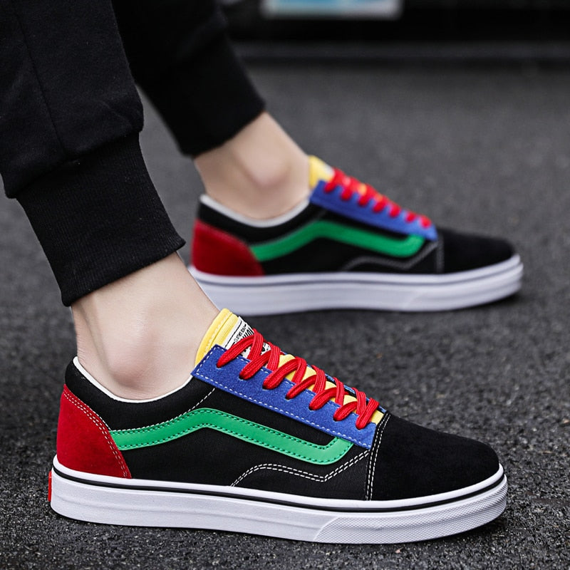 Male Casual Canvas Shoes Breathable Tenis Fashion  Sneaker Flats Shoes - LiveTrendsX