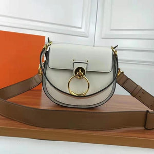 Luxury Women Bag For 2018 Designer Brand Saddle Bag Leather Ladies Crossbody Bag Fashion Ring Shoulder Bag Vintage Handbag - LiveTrendsX