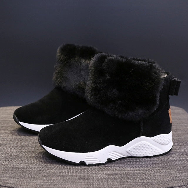 High Top Running Shoes For Woman Chunky Non-slip Sock Sport Sneakers Women Warm Winter Thick Fur Snow Boots Zapatillas Mujer - LiveTrendsX