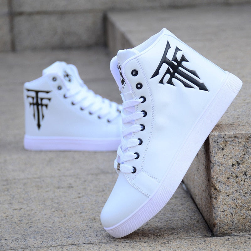 Fashion Men's Shoes Hot Sale White High-top Casual  Canvas Shoes Men Korean Version Of The Trend Sneakers Trainers Leisure Shoes - LiveTrendsX
