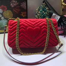 Load image into Gallery viewer, Luxury handbags women bags designer velvet high quality fashionable real famous gg chains bag for ladies satchels handbags - LiveTrendsX
