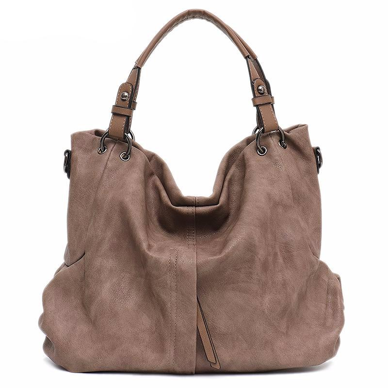 Large Women's Leather Handbags High Quality Female Pu Hobos Shoulder Bags Solid Pocket Ladies Tote Messenger Bags - LiveTrendsX