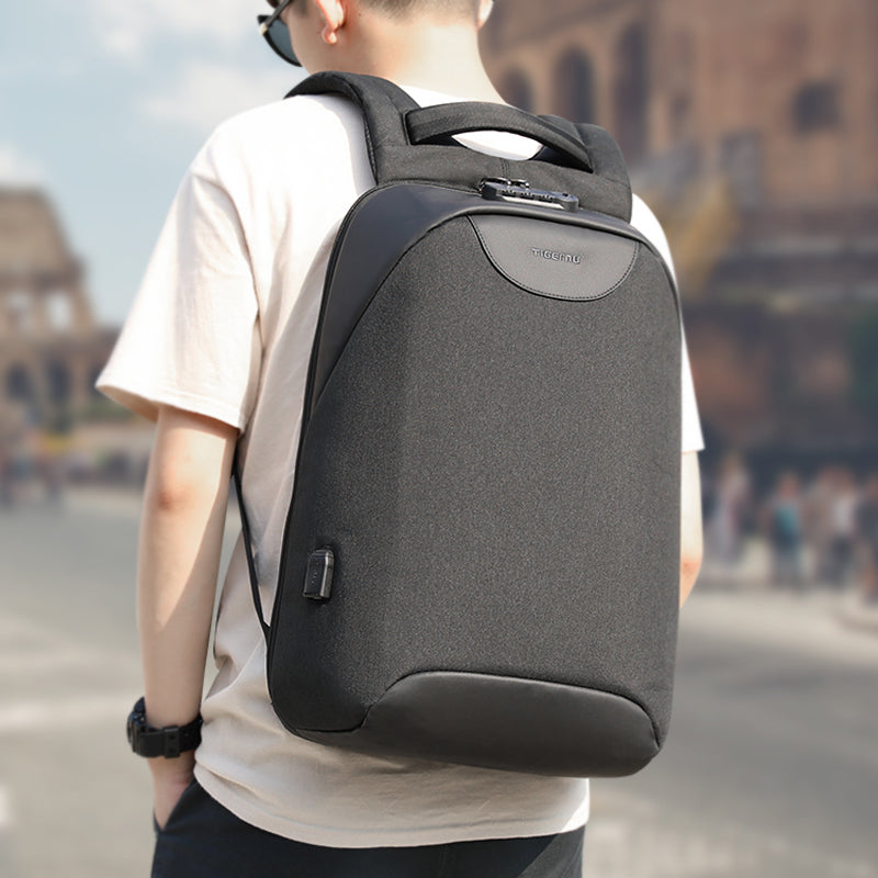 No Key Anti theft TSA Lock Fashion Men Backpacks 15.6inch USB Charging Laptop Male Mochila 18L College School Backpack for Boys - LiveTrendsX