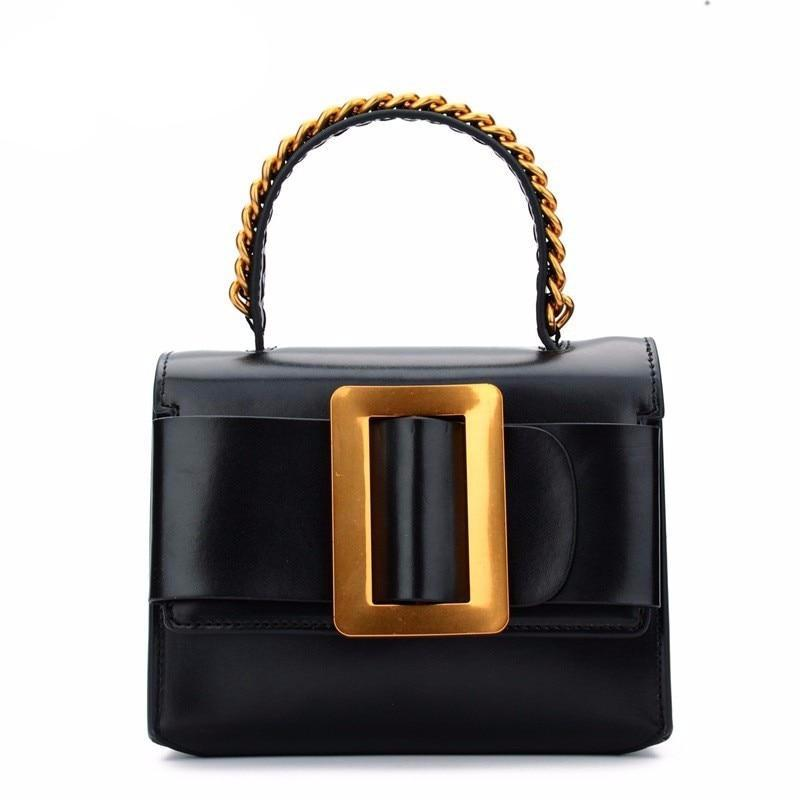 European American Crossbody Bags For Women Retro Belt Buckle Womens Handbags Leather Ladies Shoulder Bag Female Mini Bag Luxury - LiveTrendsX