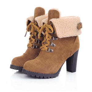 Europe and the United States winter high high women's  Martin boots - LiveTrendsX