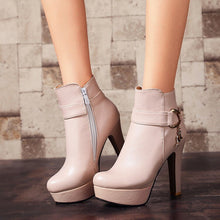 Load image into Gallery viewer, Fashion Ladies Platform Ankle Boots Women High Heel Shoes - LiveTrendsX