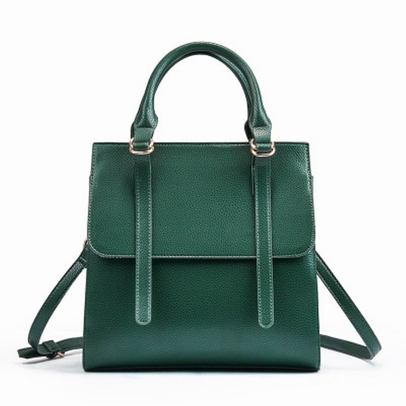 New Korean version of high quality double arrow head layer cowhide leather handbag fashion handbag shoulder slung bulk bags - LiveTrendsX