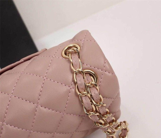 Tote sheepskin Chain Large Shoulder Crossbody Bags Fashionable women's shoulder bag is 100% natural leather - LiveTrendsX
