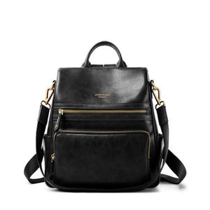 Women Backpacks Genuine Leather Backpack Female Original Travel School Bag Soft Fashion Vintage Shoulder Bags - LiveTrendsX