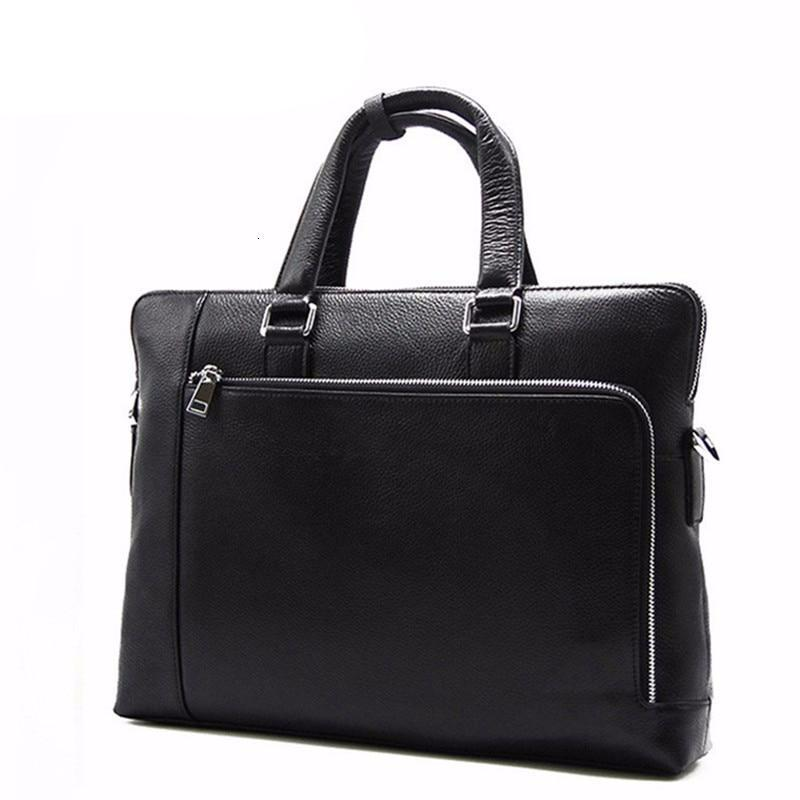 Men's Luxury Handbags Men Crossbody Genuine Leather Bags For Male Designer Business Shoulder Messenger Cowhide Briefcase Black - LiveTrendsX