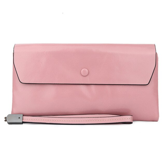New Genuine Leather Women Wallets Female Leather Wallets With Phone Pocket Ladies Purse Hasp Small Bags For Womens Card Holder - LiveTrendsX