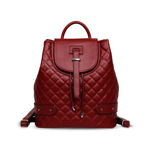 Camelia Quilted Backpack Genuine Cow Leather Fashion Celebrity - LiveTrendsX